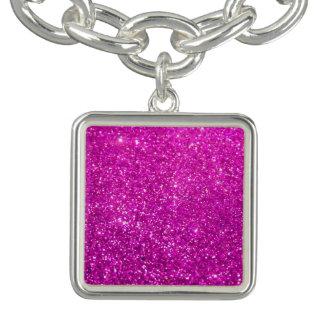 De paarse Diamant schittert Bedel Armbandjes