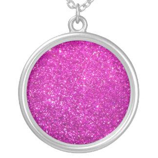 De paarse Diamant schittert Zilver Vergulden Ketting