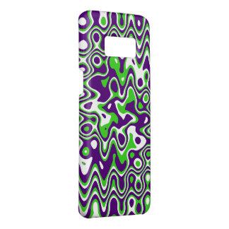 [De Paarse en Groene] op-Kunst van Wervelingen Case-Mate Samsung Galaxy S8 Hoesje