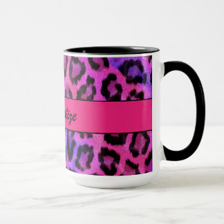 """De """"paarse en Roze Druk van de Luipaard """" Mok"""