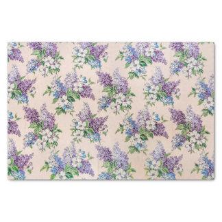De paarse en Seringen van de Lavendel op Vintage Tissuepapier