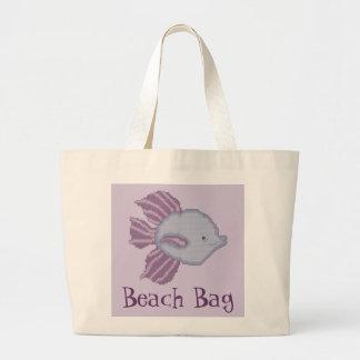 De paarse en Violette Tropische Zak van het Strand Grote Draagtas