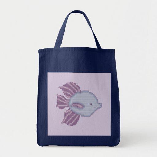 De paarse en Violette Tropische Zak van Vissen Tas