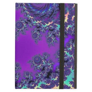 De paarse Fractal Hoesjes en de Sleeves van het iPad Air Hoesje