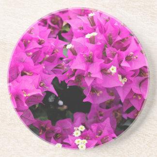 De paarse Fuchsiakleurig Achtergrond van Zandsteen Onderzetter