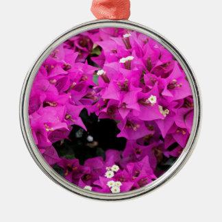 De paarse Fuchsiakleurig Achtergrond van Zilverkleurig Rond Ornament