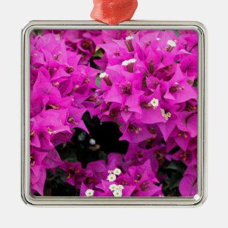 De paarse Fuchsiakleurig Achtergrond van Zilverkleurig Vierkant Ornament