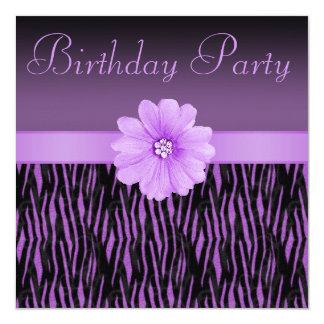 De paarse Gestreepte Partij van de Verjaardag van Kaart