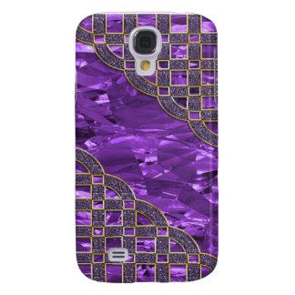 De paarse Gouden Folie, schittert Luizen Galaxy S4 Hoesje