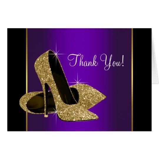 De paarse Gouden Hoge Schoenen van de Hiel danken Kaart