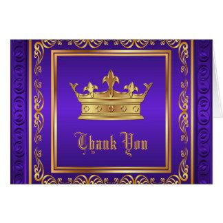 De paarse Gouden Kroon dankt u Briefkaarten 0