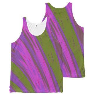 De paarse Groene Slis van de Kleur All-Over-Print Tank Top