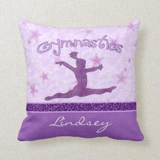 De paarse Gymnastiek van de Streep van de Druk van Sierkussen
