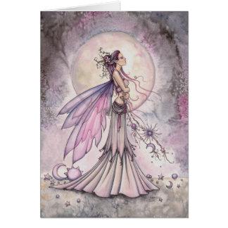 De paarse HemelIllustratie van de Kunst van de Briefkaarten 0