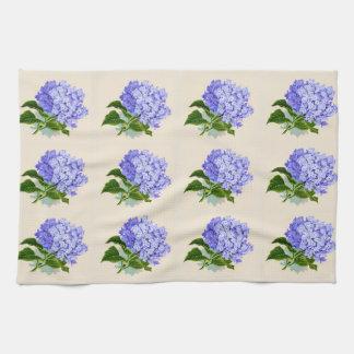 De paarse Hydrangea hortensia bloeit Vintage Theedoek