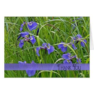 De paarse Iris dankt u Kaart