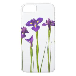 De paarse Irissen bloeien de Kleurrijke Bloemen iPhone 8/7 Hoesje