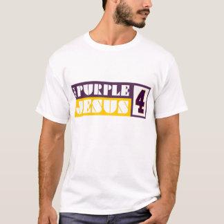 De paarse Jesus T Shirt