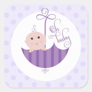 De paarse Jongen Oh de Sticker van het Baby van d