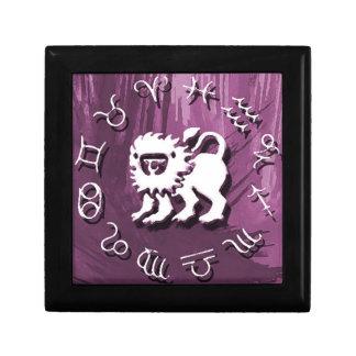 De paarse Juwelen van de Leeuw/de Doos van de Gift Decoratiedoosje