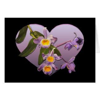 De paarse Kaart van de Valentijnsdag van