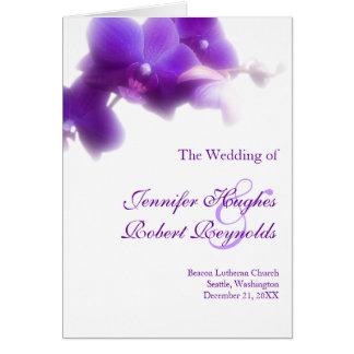 De paarse Kaart van het Programma van het Huwelijk