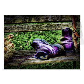 De paarse Kaart van Laarzen