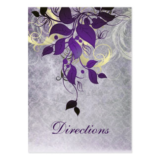 de paarse kaarten van het huwelijksrichtingen van visitekaart sjablonen