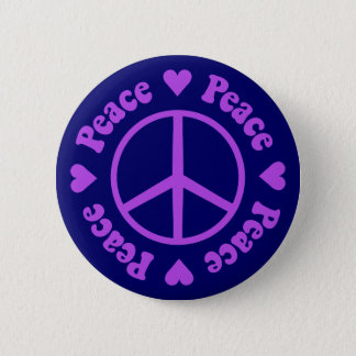 De paarse Knoop van de Vrede & van de Liefde Ronde Button 5,7 Cm