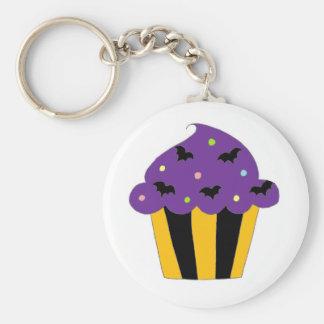 De paarse Knuppels Cupcake van Halloween Sleutelhangers