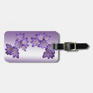 De paarse Lente Bloemen Kofferlabel