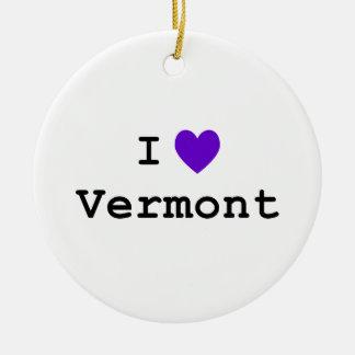 De paarse Liefde Vermont van I Rond Keramisch Ornament