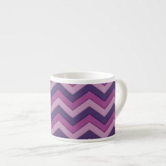 De paarse Mok van de Espresso van het Patroon van