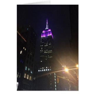 De paarse Nacht van het Empire State Building NYC Briefkaarten 0