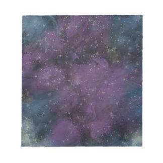 De paarse Nevel van de Melkweg Notitieblok