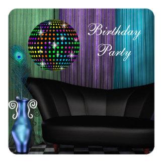 De paarse Partij van de Verjaardag van de Disco Kaart