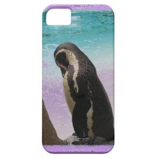 De paarse Pinguïn Phonecase van de Grens Barely There iPhone 5 Hoesje