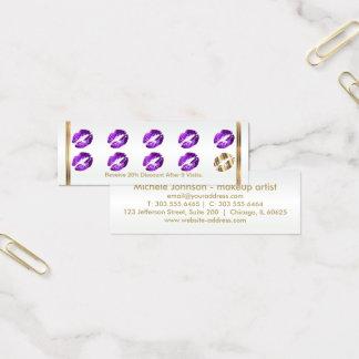 De Paarse Ponskaart van de loyaliteit - schitter Mini Visitekaartjes