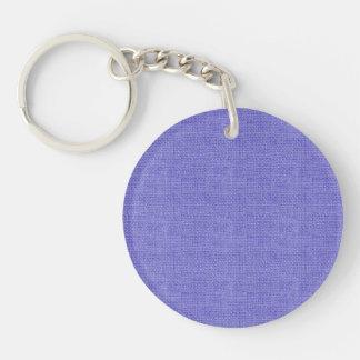 De paarse Retro Textuur van het Linnen Sleutelhanger