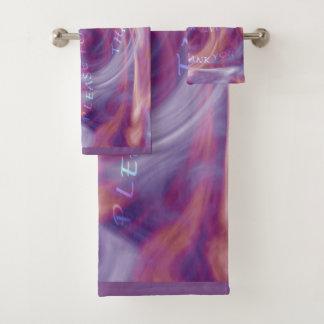 De Paarse Rook van Ho'oponopono Bad Handdoek