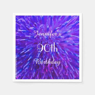 De paarse Roze Blauwe Partij van de Verjaardag van Papieren Servetten