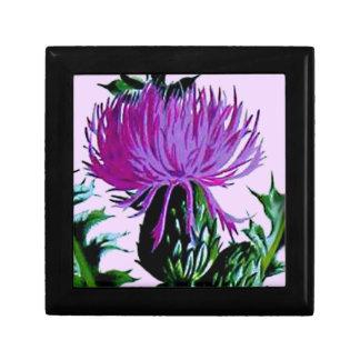 De paarse Schotse Distel van de Tuin Decoratiedoosje