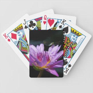 De paarse Speelkaarten van de Libel van Lotus Pak Kaarten