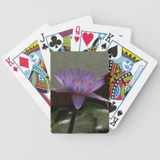 De paarse Speelkaarten van Lotus Waterlily Bicycle Speelkaarten