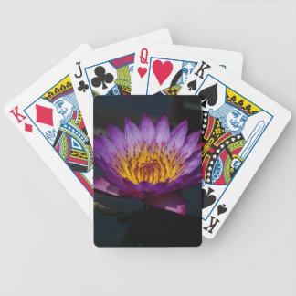 De paarse Speelkaarten van Lotus Waterlily Pak Kaarten
