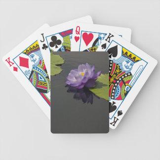 De paarse Speelkaarten van Lotus Waterlily Poker Kaarten