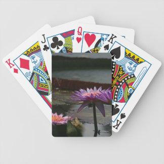 De paarse speelkaarten van Waterlilies Lotus Poker Kaarten