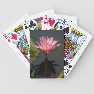 De paarse Speelkaarten van Waterlily Lotus Pak Kaarten