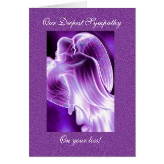 De paarse Sympathie van de Engel Briefkaarten 0