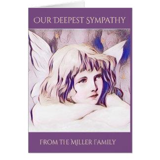 De paarse Sympathie van de Engel van de Cherubijn Wenskaart
